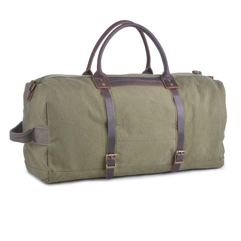 Gootium Canvas Duffle - Travel Tote Weekend Bag
