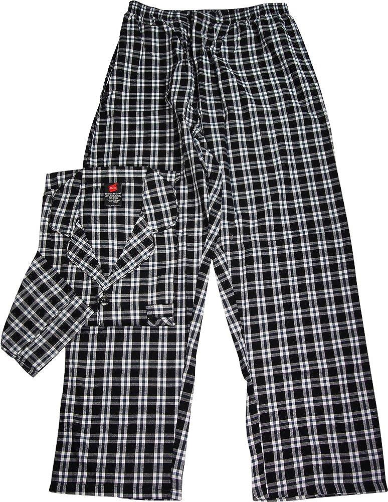 bfba139d7797 Hanes Mens Woven Pajamas LSLLBCWM LSLLBCWMB at Amazon Men s Clothing ...