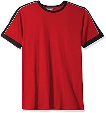 78b19a08fa6 ROBUST Men's Round Neck Half Sleeve Colorblock T-Shirt
