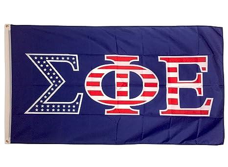 b2693aa1a2d3 Amazon.com   Sigma Phi Epsilon USA Letter Fraternity Flag Greek ...