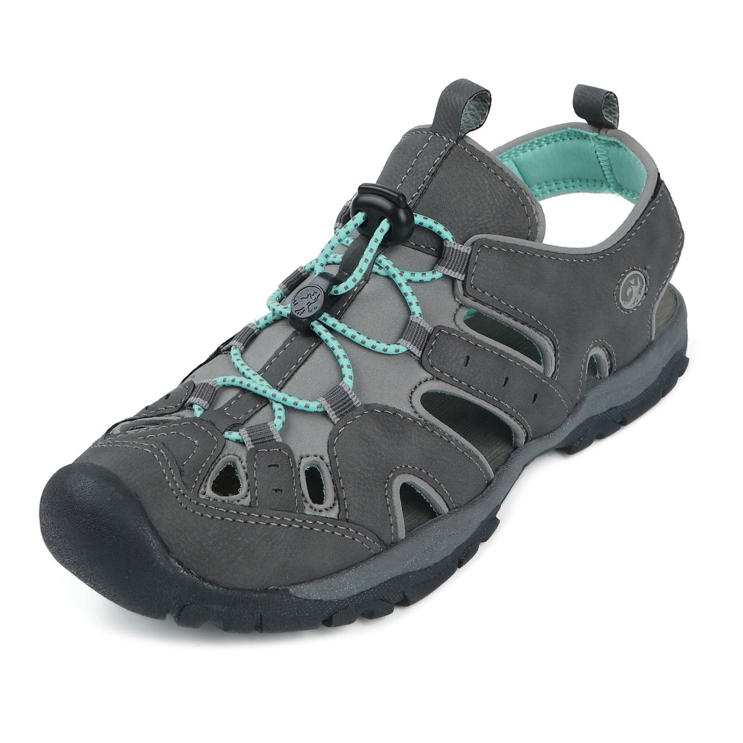 Northside Womens Burke II Sport Athletic Sandal B0151AB1EW 6 B(M) US|Dark Gray/Aqua