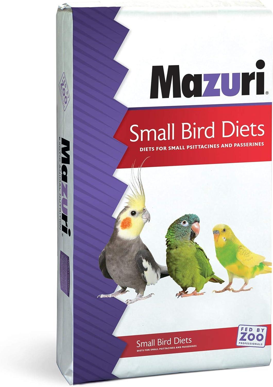 Mazuri | Nutritionally Complete for Small Birds | 25 Pound (25 lb.) Bag