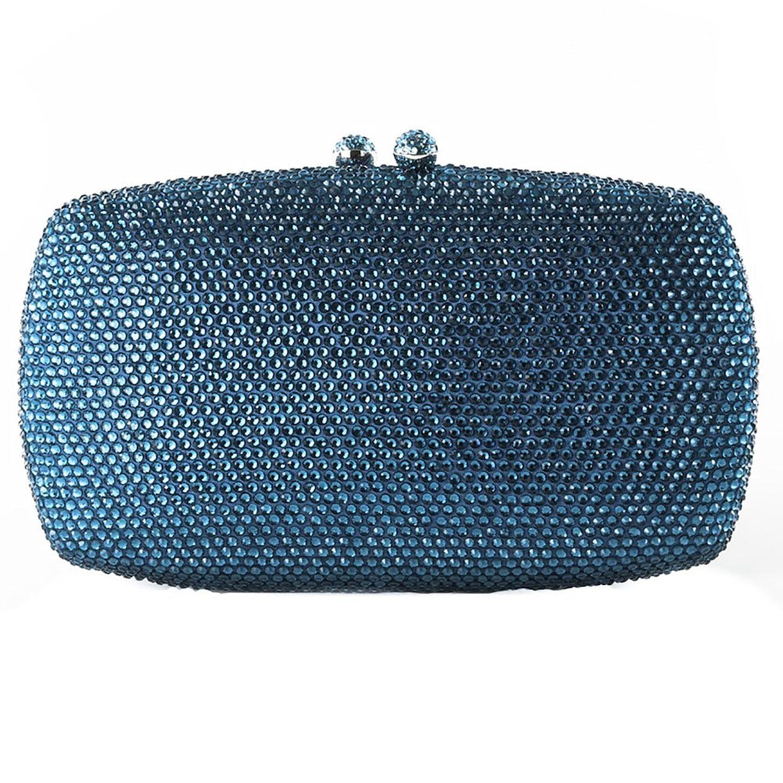 Clutch bag, Samona?light blue,?satin and rhinestones, Dimensions in cm: 19 l x 11 h x 4 p