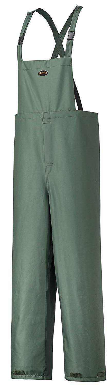 Pioneer V3040440-S Heavy-Duty Waterproof Bib Work Pants - Adjustable Ankles, Tree Planter Green, S