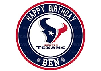 Houston Texans Edible Image Cake Topper Personalized Birthday 10quot Round Circle Decoration Custom Sheet Party