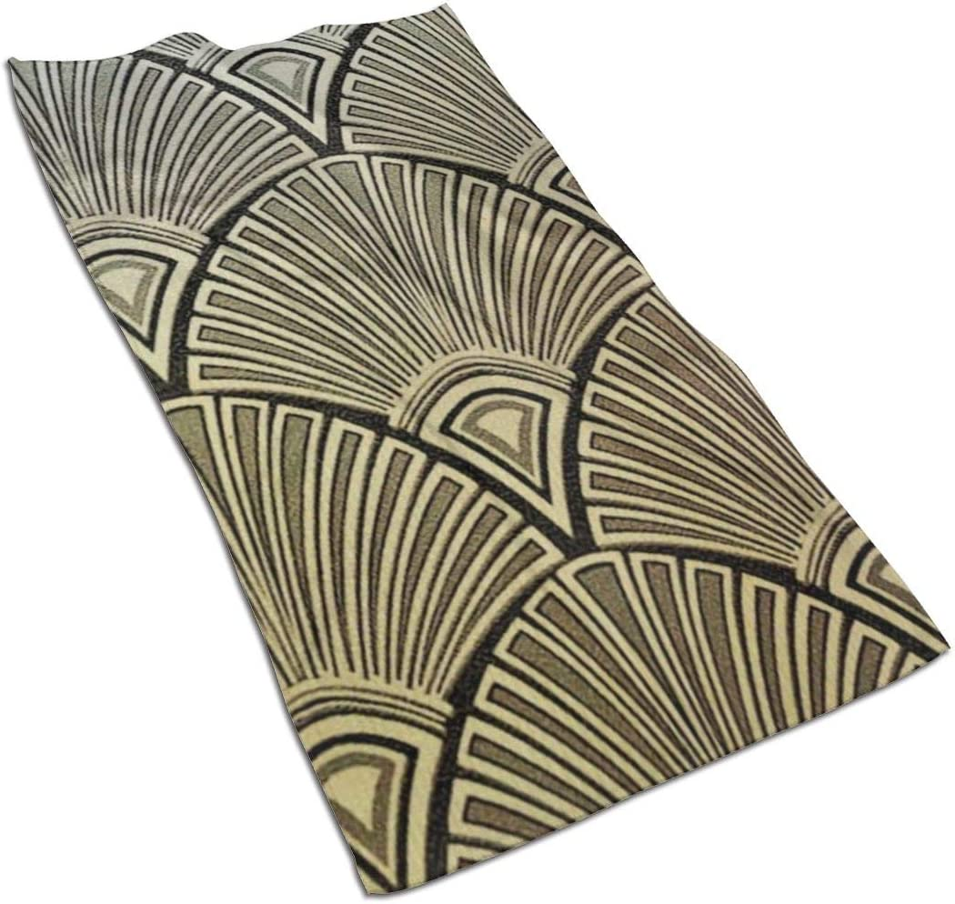 antcreptson Art Deco Pattern Images Daily Decorations Highly Absorbent Large Decorative Hand Towels Multipurpose for Bathroom, Hotel, Gym and Spa (16 x 30 Inches)