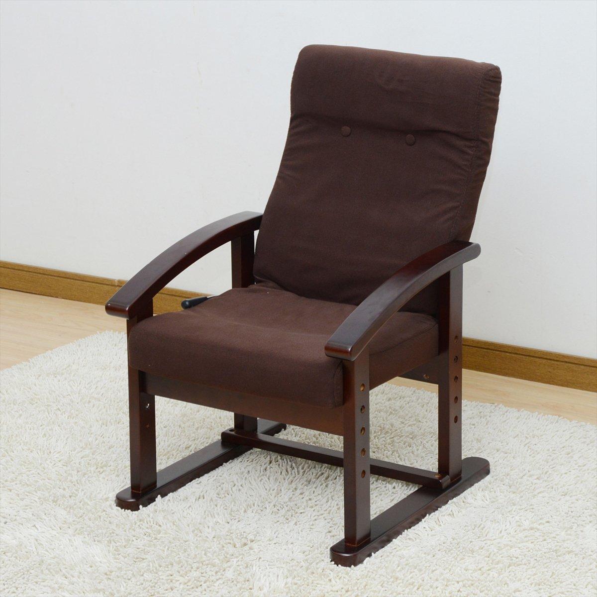 山善(YAMAZEN) レバー式リクライニング高座椅子 ダークブラウン WLZ-53M(DBR) B0145YK24U