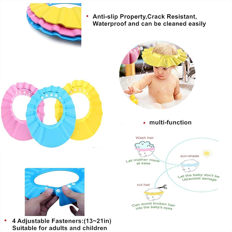 Baby Bathing Shampoo Shower Protection Hat - Soft Hat Adjustable Visor Cap for Toddler, Children, Baby, Kids : Baby