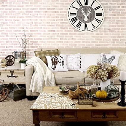 Brick Allover Stencil Wall Pattern - DIY Wall Decor - Wallpaper Alternative