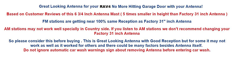 6 3//4 Antenna MAST Toyota RAV4 2006 2007 2008 Trunknets Inc FITS