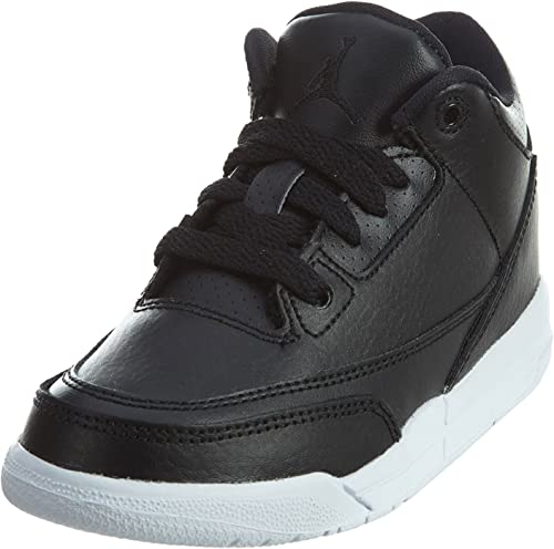 Nike Boys/' Pre-School Air Jordan RETRO 3 BP Shoes Black//White 429487-020 a
