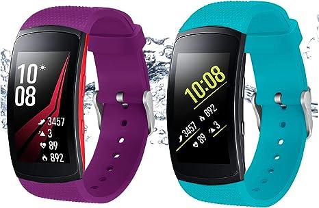 2x Sportarmband für Samsung Galaxy Fit e Fitness Tracker Halterung Sportband