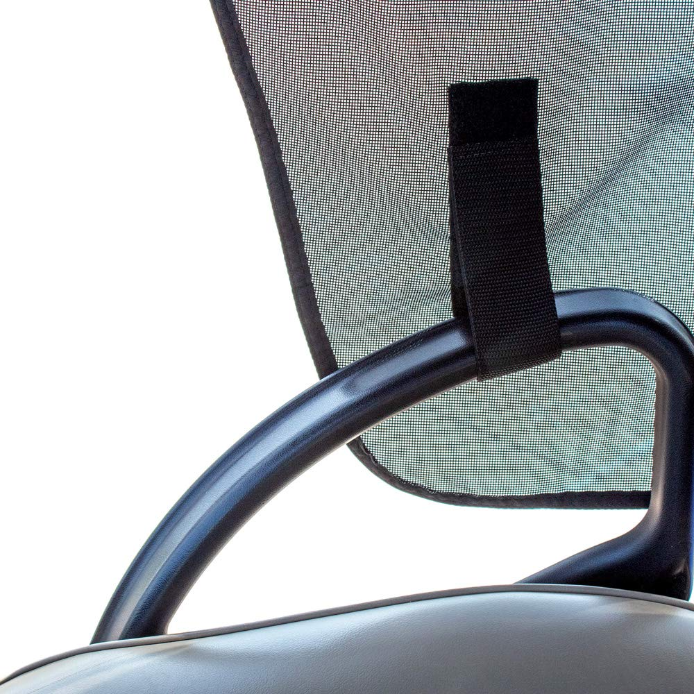 Greenline 2 Passenger Golf Cart Sun Shade by Eevelle - Yamaha, Club Car, EZGO - Made in USA (Yamaha Golf Cart, Khaki/Black) by Greenline (Image #8)