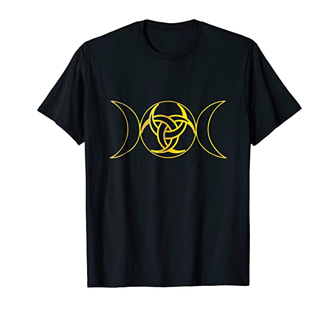 Amazon Gold Celtic Knot Triple Goddess Symbol Moon Neopagan