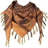 IronSeals 100% Cotton Shemagh Tactical Desert Scarf Wrap, Arab Scarf Wrap Tactical Desert Scarf Cotton Head Wrap