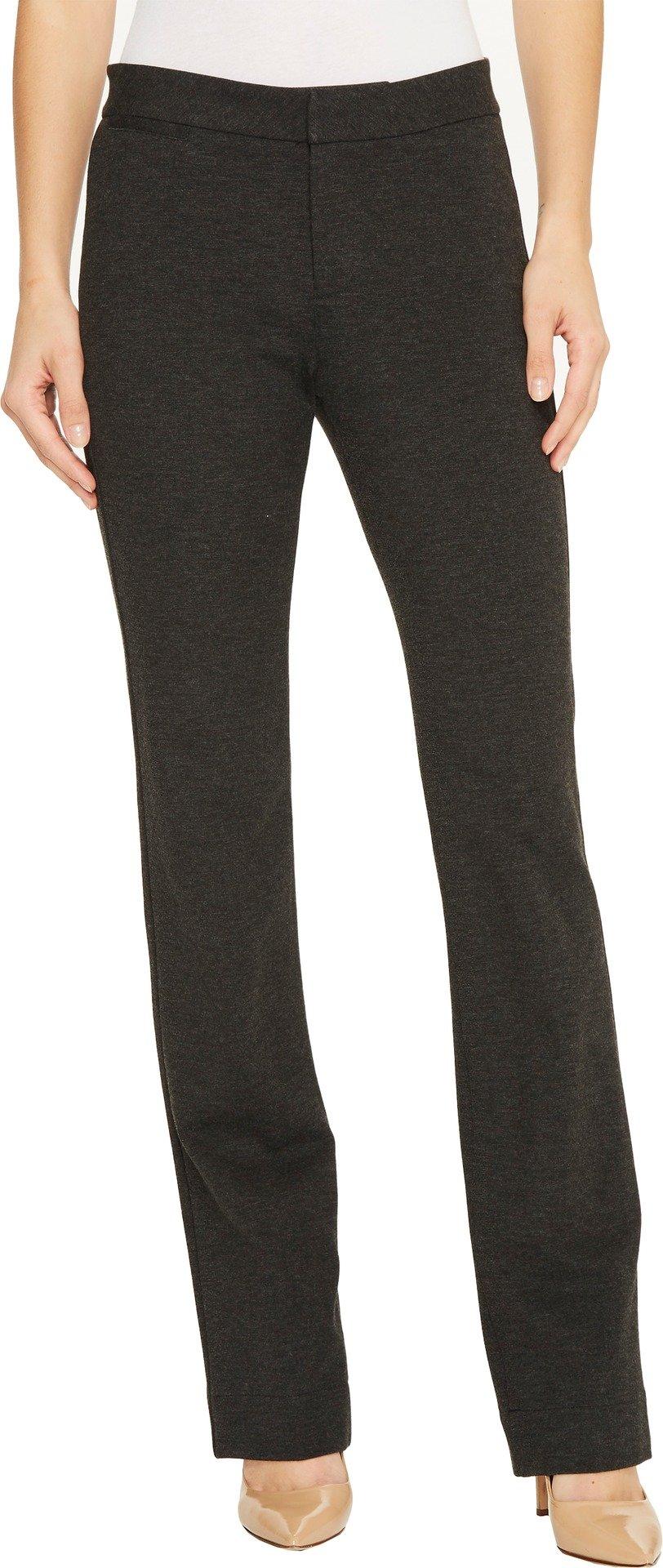 NYDJ Women's Ponte Trouser Pant, Charcoal/Heathered, 2