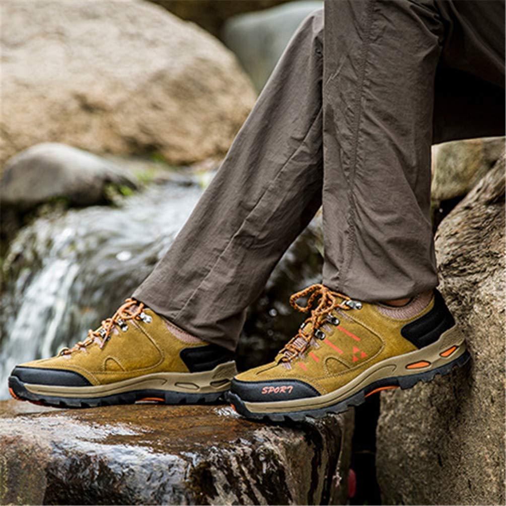 ZHRUI Paar Turnschuhe Klettern Camping Wasserdichte Atmungsaktive Wasserdichte Camping Outdoor Walking Männer Frauen Wanderschuhe (Farbe   Khaki, Größe   9.5 UK) 3e8027