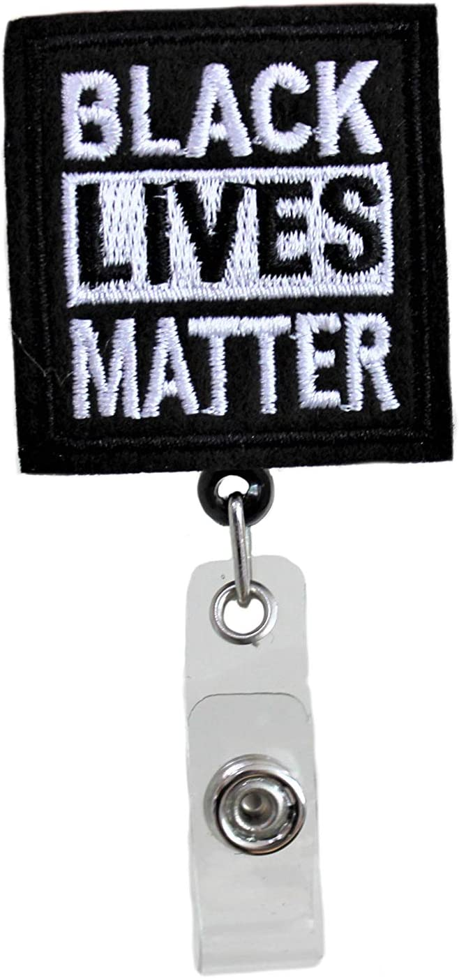 Black Lives Matter ID Badge Reel - BLM Retractable Holder for Nurses Doctors Hospitals and Office Staff | Support The Cause!