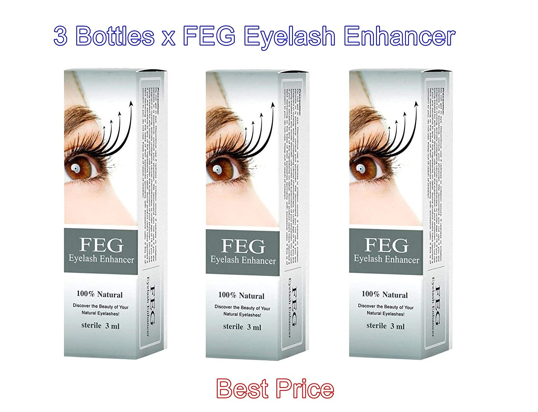 Amazon 3 X Feg Eyelash Enhancer 3 Pieces Of Most Powerful