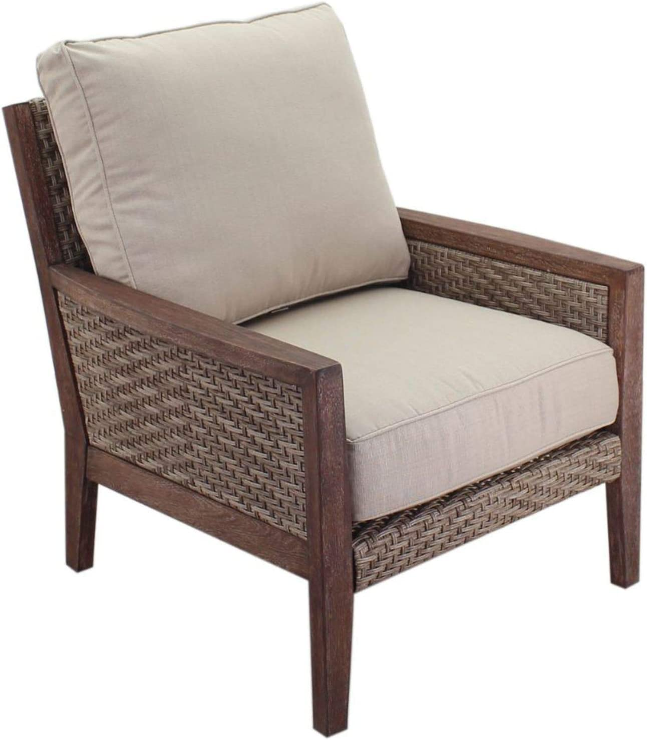Courtyard Casual 5398 Buena Vista Collection 1 Club Chair, Taupe, Brown
