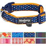 Blueberry Pet Soft & Comfortable Polka Dots, Diamond, Houndstooth Pattern Dog Collar or 3 Patterns Handmade Bowtie Set