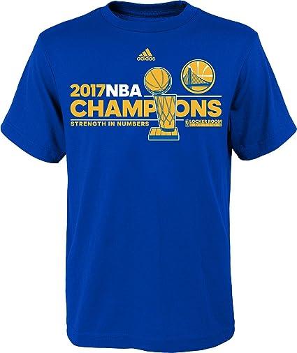 54cff8bd24ed adidas Golden State Warriors 2017 NBA Finals Champions Official Locker Room  Blue T-shirt 3X