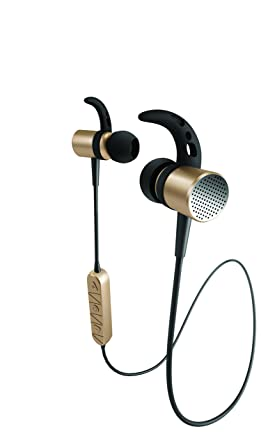 Bluetooth v4.2 Earbuds with Mic – Metal Alloy Earphones for iPhone iPod Samsung Galaxy