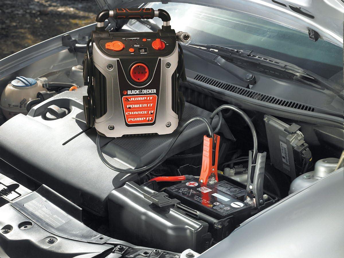 Black Decker Vg11 Starthilfe 500 A 200w Kfz Mit 8 27 Bar Kompressor Auto