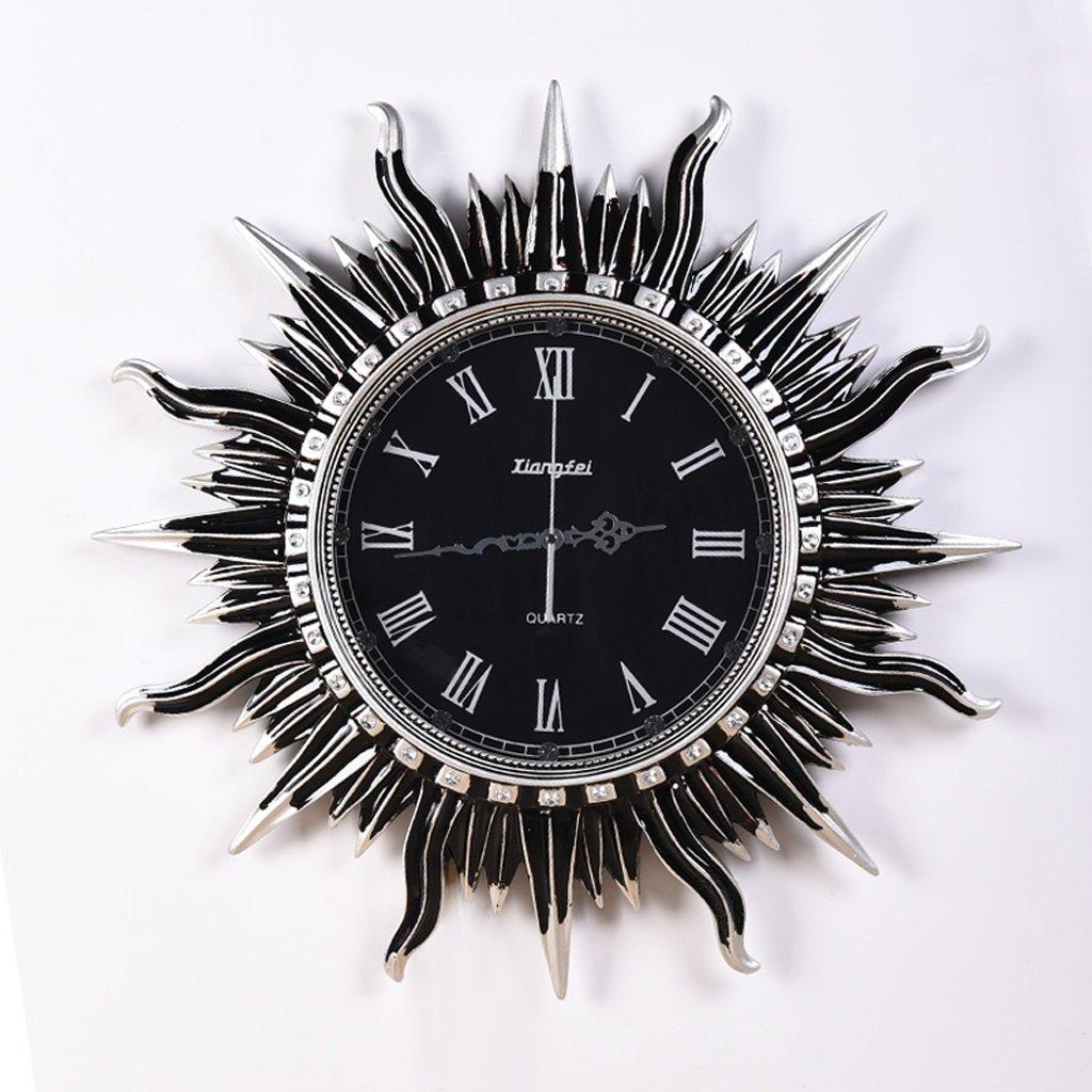ウォールクロック 創造的なヨーロッパのレトロ壁の装飾の壁時計リビングルーム円形の太陽の芸術の壁時計ミュート時計の時計 (サイズ さいず : 20 inches) B07DJ2NYT320 inches
