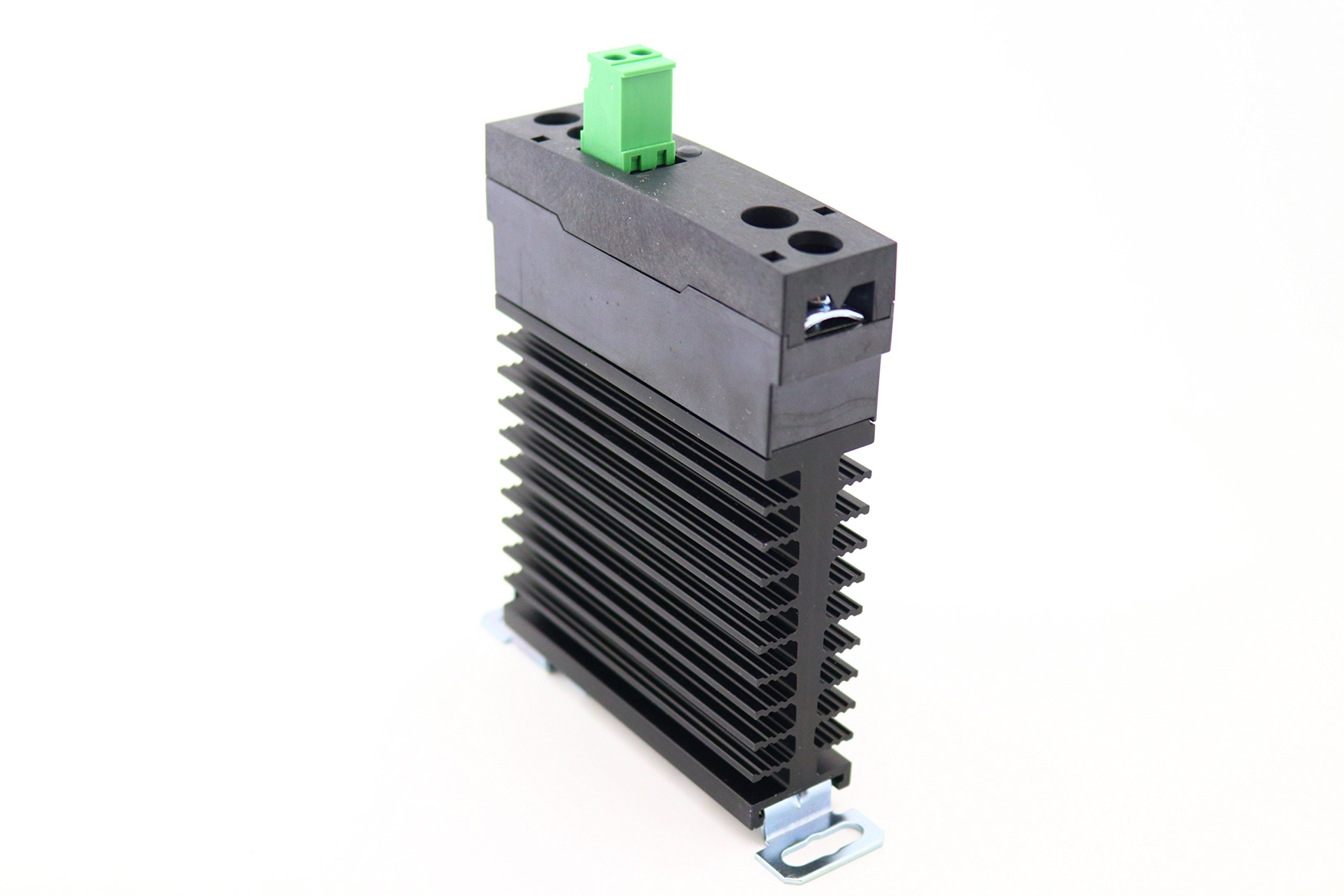 PCS55-D-240A-20Z | 20 Amp, 280 VAC Output, DIN Rail Mount, Solid State Relay with Integrated Heat Sink, 4-32 VDC Control Voltage and Zero Crossing