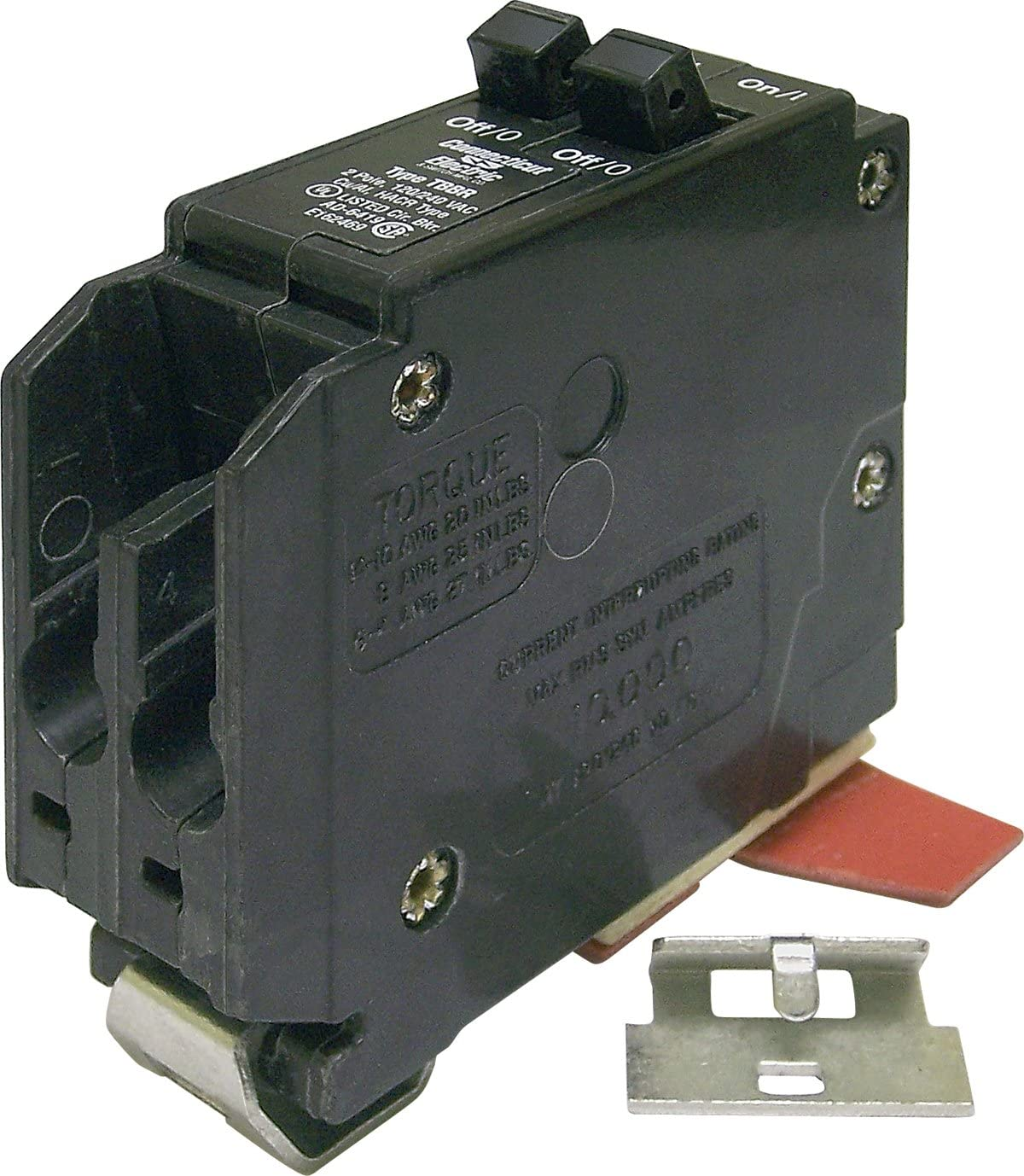 20 Amp Wadsworth Twin//Duplex 2 Pole B2020 Type B w//Metal Foot Circuit Breaker