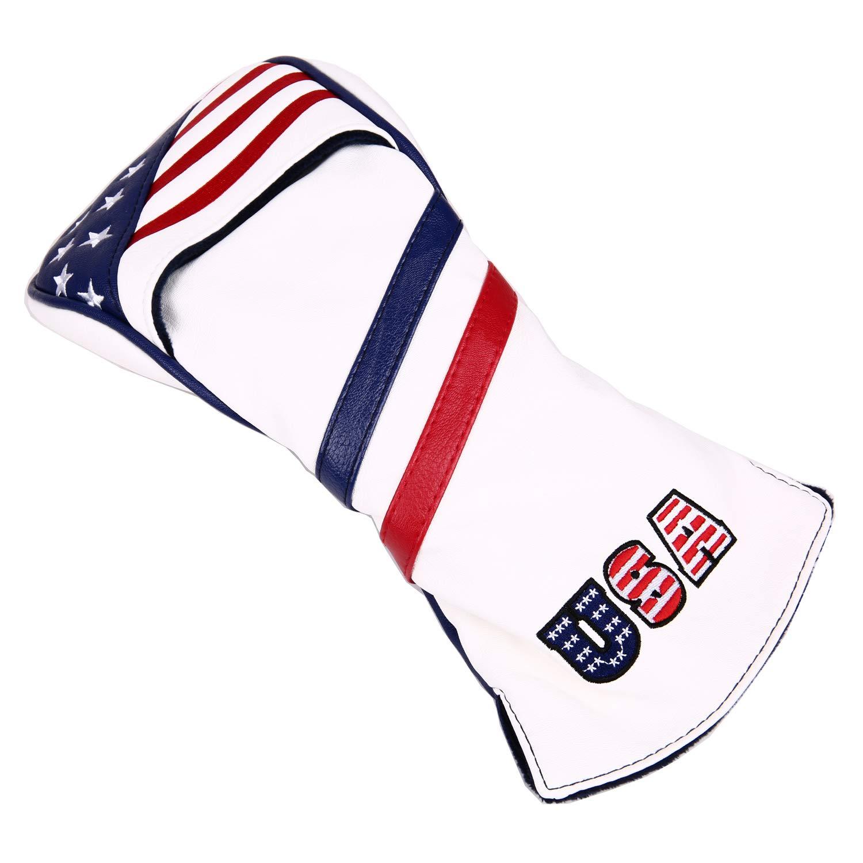 Sword & Shield Sports ゴルフクラブカバー ドライバーゴルフヘッドカバー用 USA 星条旗 1枚 B07H93Y7TV