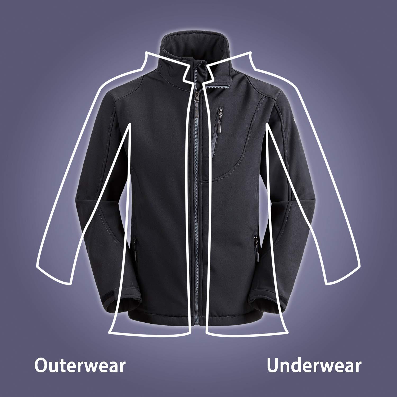 Wantdo Mens Softshell Jacket Outdoor Windproof Sports Outerwear