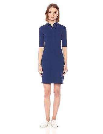 d8117d78d Lacoste Women s Stretch Half Sleeve Cotton Piqué Polo Dress at ...