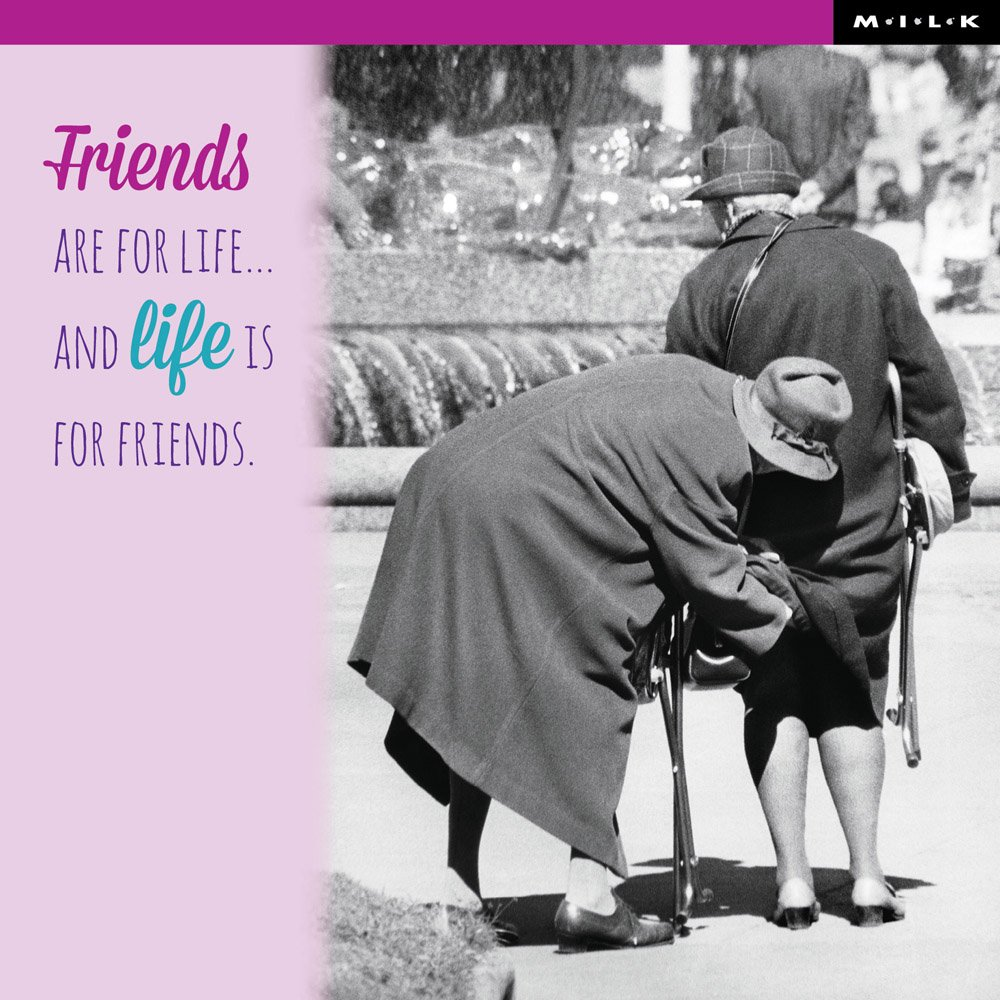 Friends Are For Life Birthday Greeting Card Square Milk Range Cards WPL
