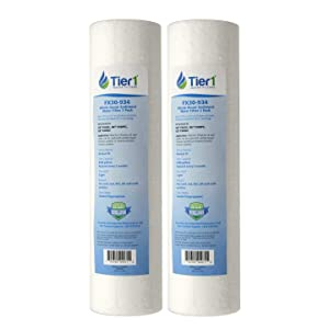 Tier1 Replacement for GE FXUSC 30 Micron 10 x 2.5 Sediment Water Filter