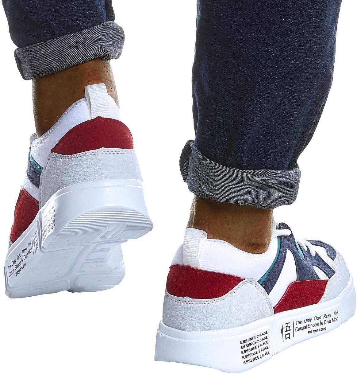 Leif Nelson heren schoenen voor vrije tijd sport training vrijetijdsschoenen mannen witte sneaker voor zomer winter zomer schoenen sportschoenen witte schoenen voor jongens Fitness winterschoenen half Weiss-blau