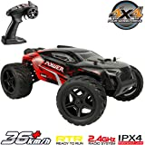 Hosim 1:16 Scale 4WD Remote Control RC Truck G172, High Speed Racing Vehicle 36km/h Radio Controlled Off-Road 2.4Ghz RC Car Electronic Monster Hobby Truck R/C RTR Car Buggy for Kids Adults Birthday