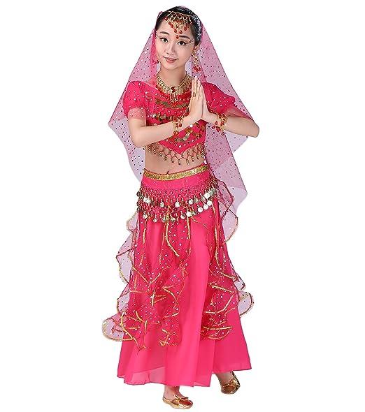 Amazon.com: astage niña danza del vientre indio joyería para ...