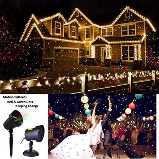 Amazon.com: Proyector de luces de Navidad para exteriores ...
