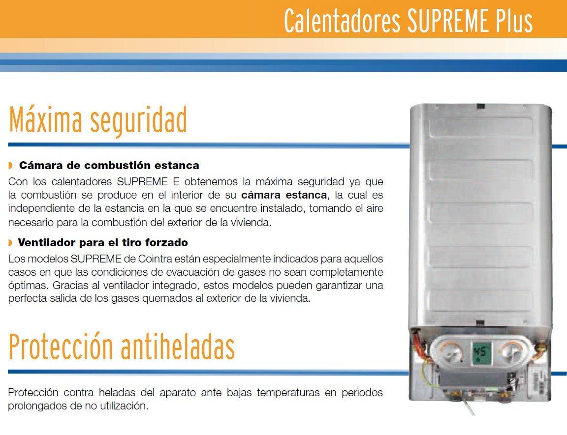 Cointra supreme plus - Calentador gas estanco supreme-11e plus-b, Clasificación energética - A: 262.93: Amazon.es: Bricolaje y herramientas