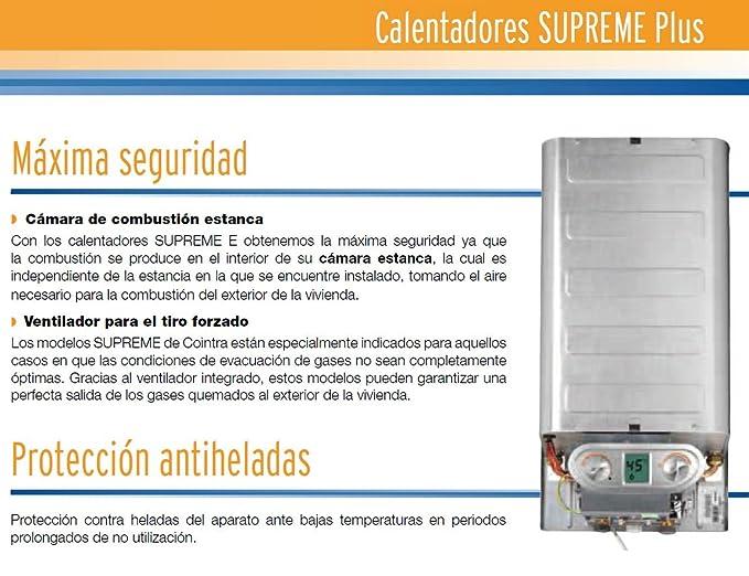 Cointra Supreme 11E PLUS n - Calentador (Gas natural, Encendido electrónico a red eléctrica, 11 L/min): Amazon.es: Bricolaje y herramientas