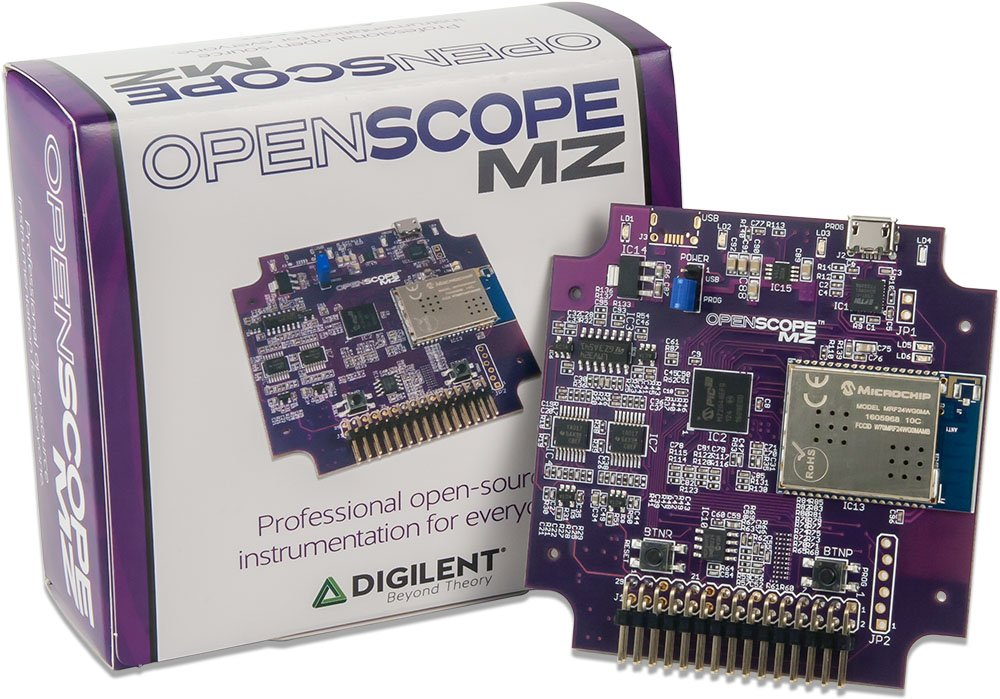 Digilent OpenScope MZ: WiFi or USB Connected Oscilloscope and Waveform Generator