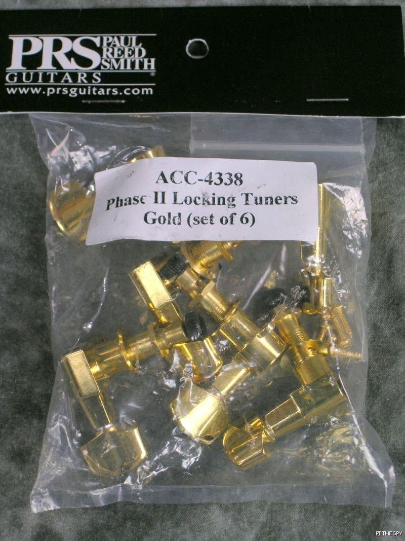PRS Phase II Locking Tuners, Gold, Set of 6