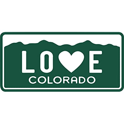 Heart Sticker Colorado Sticker | License Plat Die-Cut Emblem l 3 inch | Apply to Water Bottle Decal Laptop Computer Cooler Bumper | Denver Bronco Nugget Rocky Mountain Avalanche Buffs 303 State Flag: Automotive