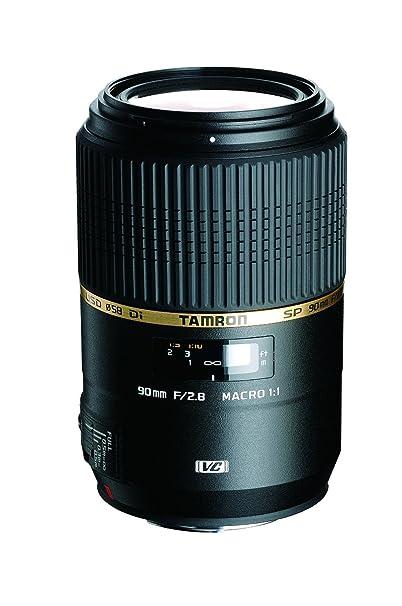 Tamron AFF004N700 SP 90MM F/2.8 DI MACRO 1:1 VC USD For Nikon 90mm IS Macro Lens for Nikon (FX) Cameras - Fixed (International Model) No Warranty
