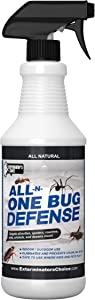 All-N-One Bug Defense Natural Spray by Exterminator's Choice for Roaches Ants Silver Fish Crickets|Spiders|Beetles|Fleas and ticks|Insect Repellents and Insect Killer Spray…
