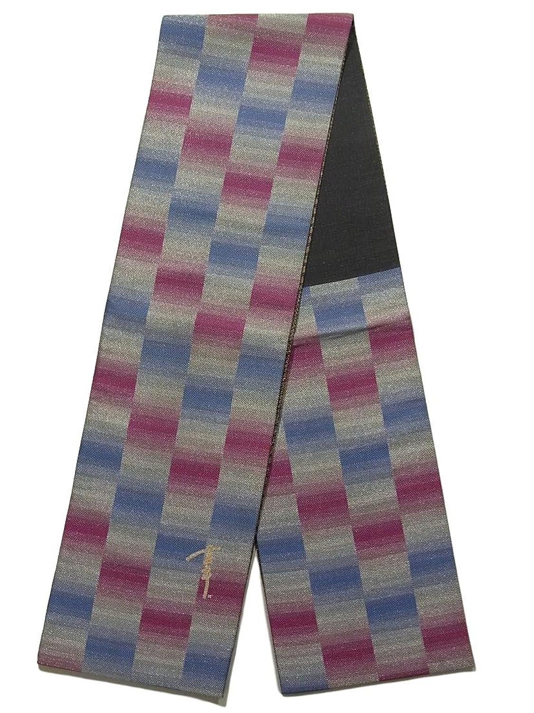 リサイクル 袋帯 市松模様 正絹 六通 B07FD4X828  -