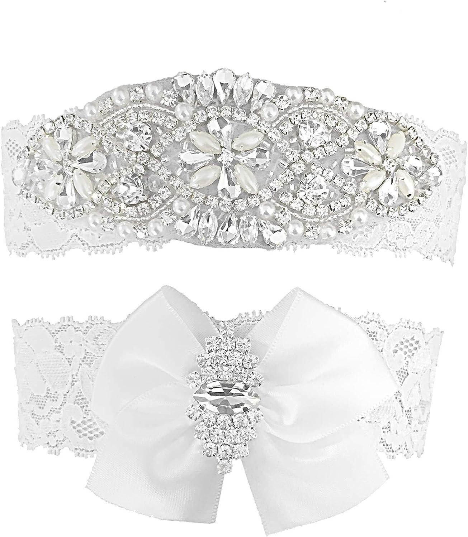Amazon Com Kirmoo Vintage Bridal Garter Set Lace Wedding Garters