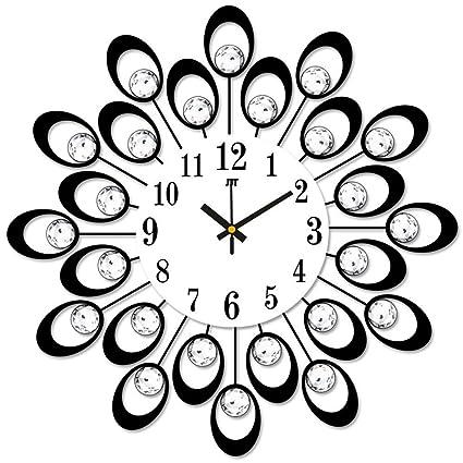 WHLXCQ Relojes De Pared Dormitorio Salón Creativo Arte De Hierro Reloj Reloj De Arte De Estilo